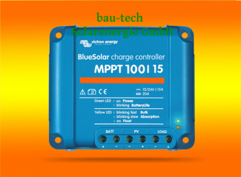 VICTRON Laderegler Energy BlueSolar MPPT 100/15 für 12V / 24V