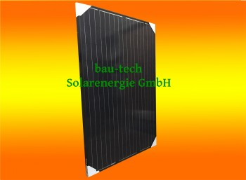 2 Stück 250Watt Solarmodule Monokristallin in schwarz
