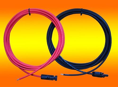10,0m Anschlusskabel 4mm² Modul auf Laderegler