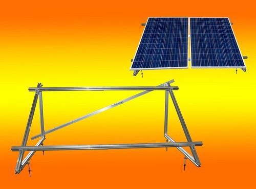 PV Solar Unterkonstruktion Aufständerung für 2 Module