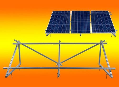 PV Solar Unterkonstruktion Aufständerung für 3 Module