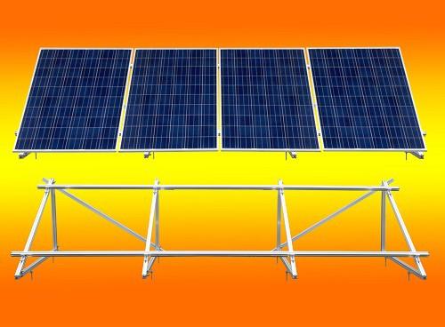 PV Solar Unterkonstruktion Aufständerung für 4 Module