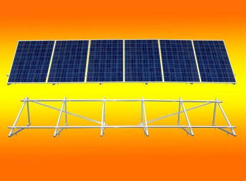 PV Solar Unterkonstruktion Aufständerung für 6 Module