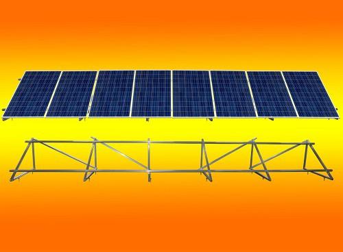 PV Solar Unterkonstruktion Aufständerung für 8 Module