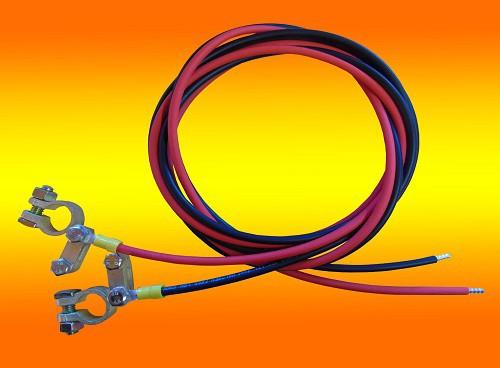 5,0m Batterie Anschlusskabel 4mm² Laderegler auf Batterie