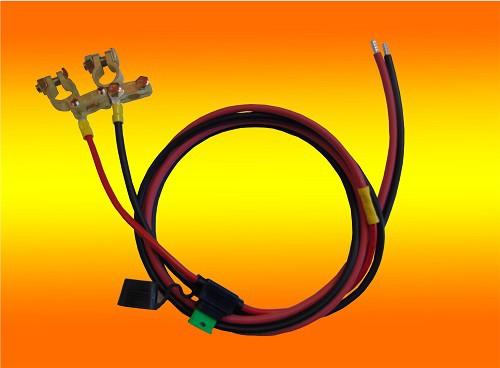 1,5m 6mm² Batterieanschlußkabel mit 30A Sicherung und Polklemmen