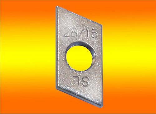 1 Stück Gewindeplatte / Schiebemutter M8 Edelstahl A2