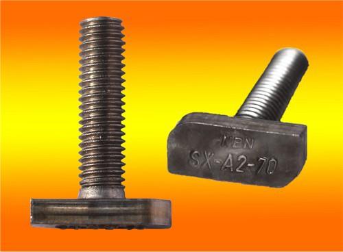 50 Stück Hammerkopfschrauben M8 x 30mm Edelstahl A2
