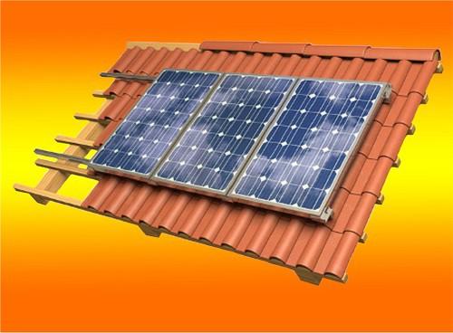 Pfannendachhalterung für 3 Module 100Watt Rahmenhöhe 35mm
