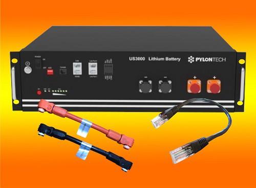 PYLONTECH LiFePO4  48Volt - 3,5 kWh Speicherbatterie mit Batteriemanagement US3000C