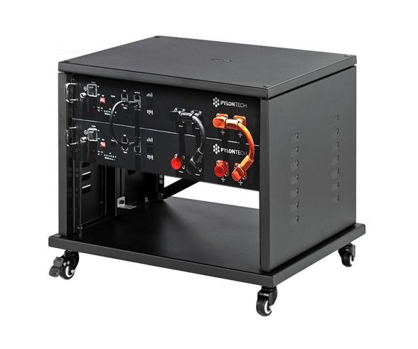 PYLONTECH LiFePO4  48Volt - 4,8 kWh Speicherbatterie mit Batteriemanagement + Schrank + Kabelsatz