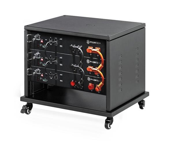 PYLONTECH LiFePO4  48Volt - 7,2 kWh Speicherbatterie mit Batteriemanagement + Schrank + Kabelsatz