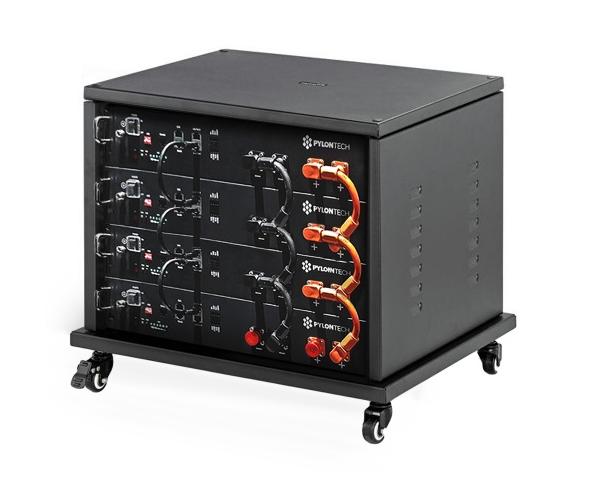 PYLONTECH LiFePO4  48Volt - 9,6 kWh Speicherbatterie mit Batteriemanagement + Schrank + Kabelsatz