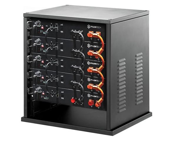 PYLONTECH LiFePO4  48Volt - 12,0 kWh Speicherbatterie mit Batteriemanagement + Schrank + Kabelsatz