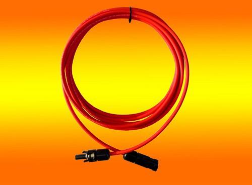 1 x 3,0m Solarkabel rot 4mm2 mit Solarstecker montiert