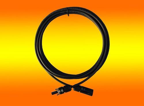 1 x 1,0m Solarkabel schwarz 4mm2 mit Solarstecker montiert
