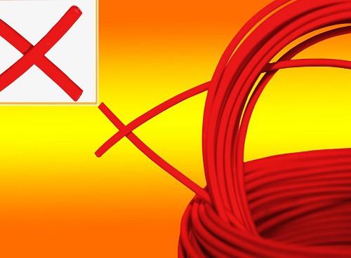 10mm² Solarkabel rot Meterware PV Kabel Solarleitung
