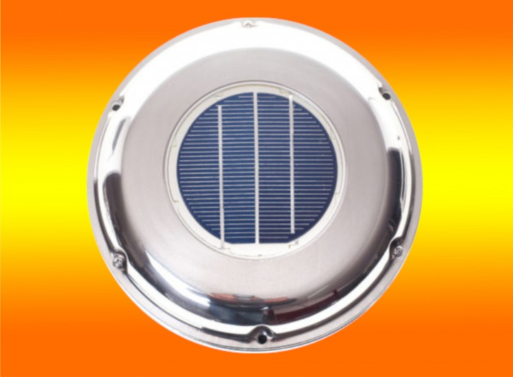 Edelstahl Solar Solarlüfter Belüfter Ventilator für Boot Wohnmobil Gartenhaus