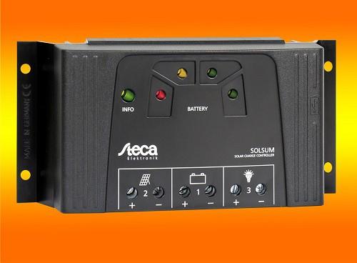 Steca Solsum 2525 12/24V mit LED Anzeige und USB Buchse Solarladeregler