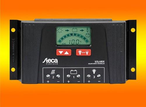 Steca Solarix 2525 12/24V Laderegler mit LCD Display und USB Buchse