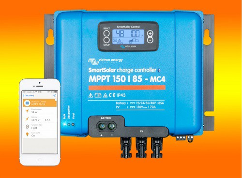 Victron SmartSolar MPPT 150/45 mit Display und MC4 Anschluss