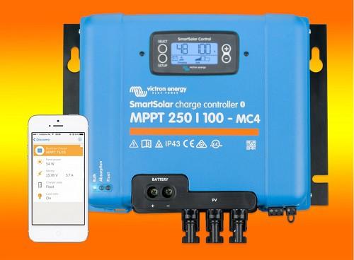 Victron SmartSolar MPPT 250/100 mit Display und MC4 Anschluss