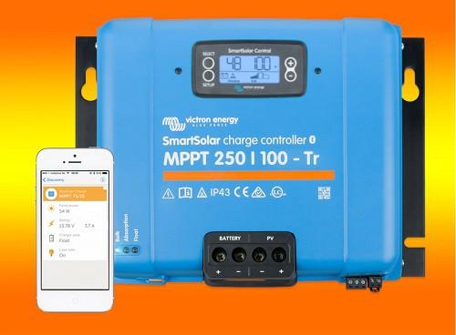 Victron SmartSolar MPPT 250/100 mit Display und Schraubanschluss