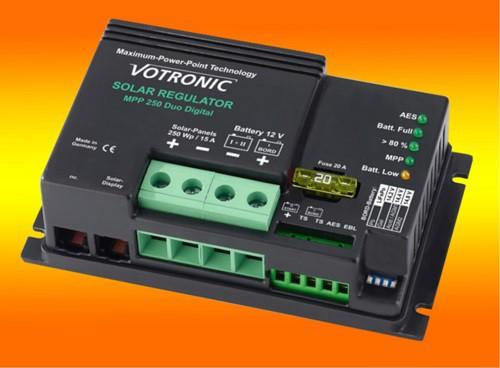 Votronic MPP 250 Duo Digital 15A 12V MPPT Solar-Laderegler für zwei Batterien