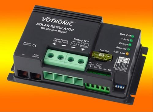 Votronic SR 220 Duo Digital 14A 12V PWM Solar-Laderegler für zwei Batterien
