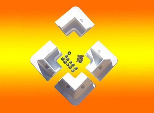 Solarmodul Halterung 4 x Eckprofil Wohnmobil Camping Solarhalterung weiß