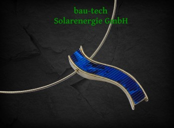 blue wave Collier Silber vergoldet