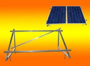 PV Solar Unterkonstruktion Aufständerung für 2 Module a 100Watt oder 130Watt