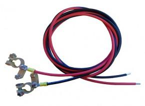 1,0m Batterie Anschlusskabel 4mm² Laderegler auf Batterie