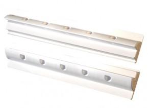 Solar Halterung 55cm Ultra Spoilerprofil für Wohnmobile in Weiss für 100Watt Module